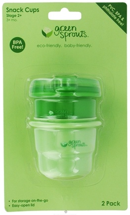 DROPPED: Green Sprouts - Snack Cups With Lids BPA-Free Stage 2+ (3+ Months) Sage Green & Dark Green - 2 Pack CLEARANCE PRICED