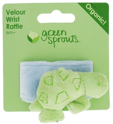 DROPPED: Green Sprouts - Organic Cotton Wrist Rattle Turtle 0 Months and Up - CLEARANCE PRICED