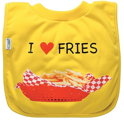 Zoom View - Green Sprouts Favorite Food Absorbent Bib Stage 3 Fries