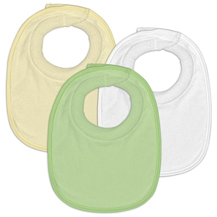 DROPPED: Green Sprouts - Waterproof DripDrop Bibs 0-3 Months Stage 1 Unisex Green Yellow White - 3 Pack