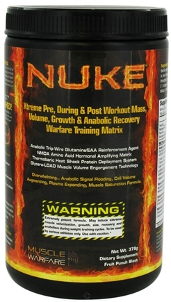 DROPPED: Muscle Warfare - Nuke Fruit Punch Blast - 379 Grams CLEARANCE PRICED