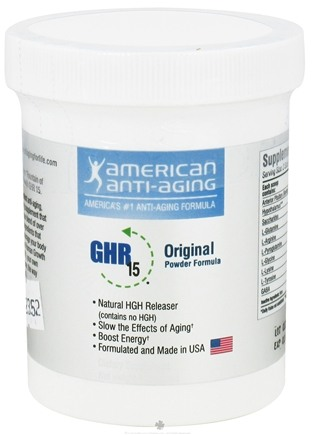 DROPPED: American Anti-Aging Society - GHR 15 Powder Original Formula - 140 Grams CLEARANCE PRICED