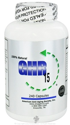 DROPPED: American Anti-Aging Society - GHR 15 Original Formula - 240 Capsules
