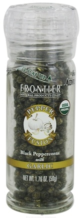 DROPPED: Frontier Natural Products - Pepper Fusion Organic Black Peppercorns with Garlic - 1.76 oz. CLEARANCE PRICED