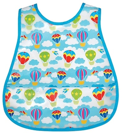 DROPPED: Green Sprouts - Waterproof Scenic Wipe Off Pocket Bib 12-24 Months Stage 4 Balloon