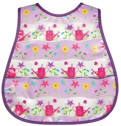 DROPPED: Green Sprouts - Waterproof Scenic Wipe Off Pocket Bib 12-24 Months Stage 4 Flower