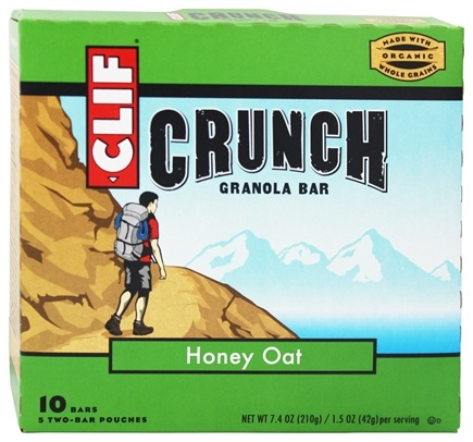 DROPPED: Clif Bar - Crunch Granola All Natural Honey Oat - 10 Bars