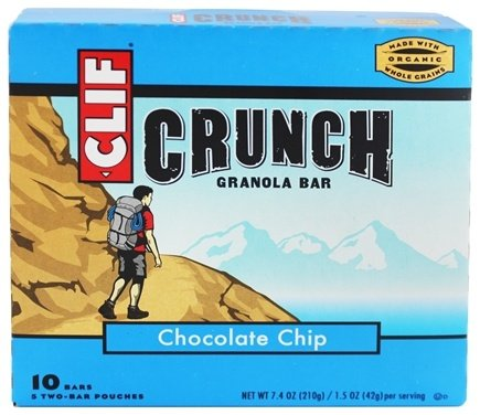 DROPPED: Clif Bar - Crunch Granola All Natural Chocolate Chip - 10 Bars