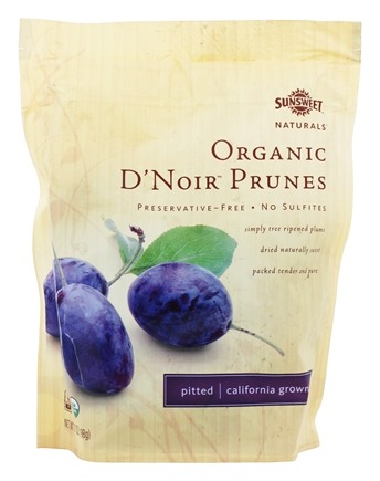 Zoom View - Organic D'Noir Prunes Pitted