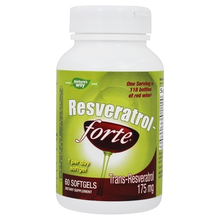 Enzymatic Therapy - Resveratrol Forte High Potency - 60 Softgels