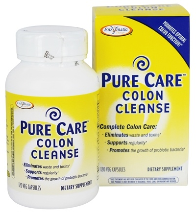 DROPPED: Enzymatic Therapy - Pure Care Colon Cleanse - 120 Vegetarian Capsules