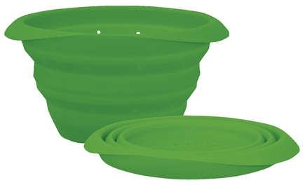 DROPPED: Green Sprouts - Collapsible Silicone Colander 3-12 Months Stage 2-3 Green - CLEARANCE PRICED