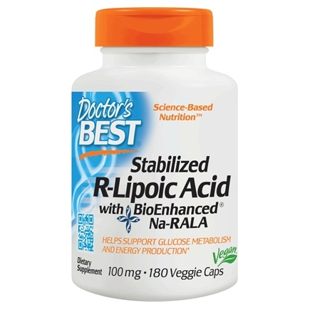 Doctor's Best - Best Stabilized R-Lipoic Acid 100 mg. - 180 Vegetarian Capsules