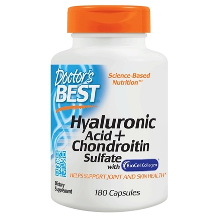 Doctor's Best - Best Hyaluronic Acid with Chondroitin Sulfate 100 mg. - 180 Capsules