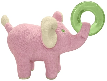 Zoom View - Green Sprouts Organic Terry Circus Animal Teether 3  Months Elephant