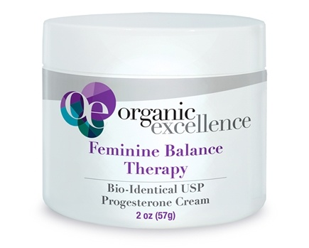 Organic Excellence - Feminine Balance Therapy Bio-Identical Progesterone Cream Fragrance-Free - 2 oz.