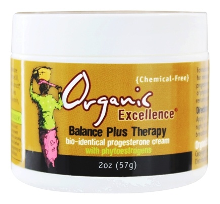 Organic Excellence - Balance Plus Therapy Bio-Identical Progesterone Cream Fragrance-Free - 2 oz.