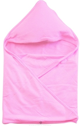 "DROPPED: Green Sprouts - Organic Cotton Knitted Hooded Towel 30"" x 30"" Pink"