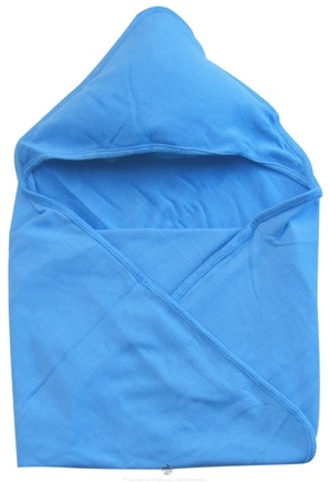 "DROPPED: Green Sprouts - Organic Cotton Knitted Hooded Towel 30"" x 30"" Blue - CLEARANCE PRICED"
