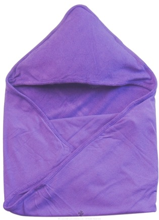 "DROPPED: Green Sprouts - Organic Cotton Knitted Hooded Towel 30"" x 30"" Plum - CLEARANCE PRICED"