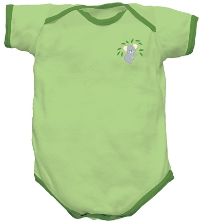 DROPPED: Green Sprouts - Origins Organic Bodysuit Short Sleeve Newborn 0-3 Months Sage Green