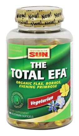 Health From The Sun - 100% Vegetarian The Total EFA - 90 Vegetarian Softgels