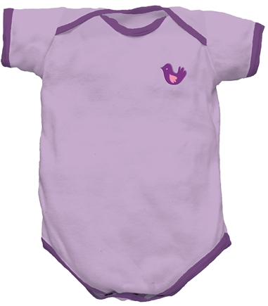 DROPPED: Green Sprouts - Origins Organic Bodysuit Short Sleeve Medium 6-12 Months Lavender