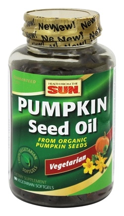DROPPED: Health From The Sun - 100% Vegetarian Pumpkin Seed Oil - 90 Vegetarian Softgels