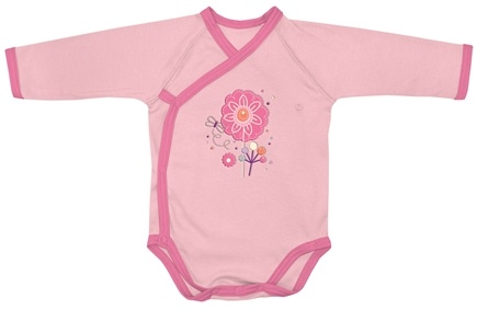 Zoom View - Origins Organic Bodysuit Long Sleeve Wrap Small 3-6  Months