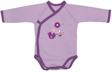 DROPPED: Green Sprouts - Origins Organic Bodysuit Long Sleeve Wrap Newborn 0-3 Months Lavender