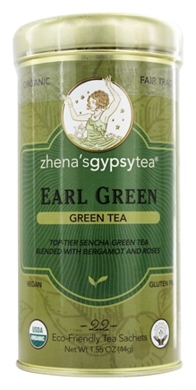 DROPPED: Zhena's Gypsy Tea - Green Tea Earl Green - 22 Tea Bags