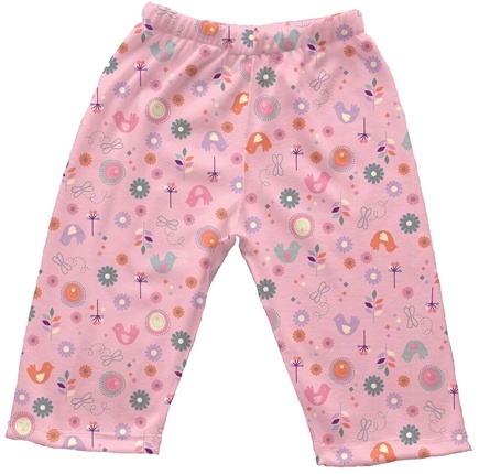 DROPPED: Green Sprouts - Origins Organic Pants Medium 6-12 Months Chickadee Rose Pink