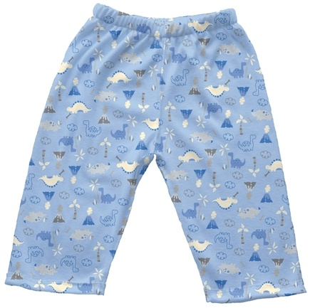 DROPPED: Green Sprouts - Origins Organic Pants Newborn 0-3 Months Dino Cornflower Blue