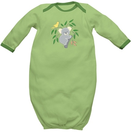 DROPPED: Green Sprouts - Origins Organic Baby Gown Medium 6-12 Months Sage Green