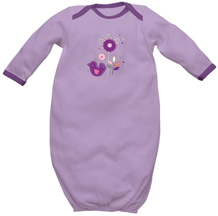 DROPPED: Green Sprouts - Origins Organic Baby Gown Newborn 0-3 Lavender