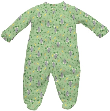 DROPPED: Green Sprouts - Origins Organic Footies Small 3-6 Months Koala Sage Green