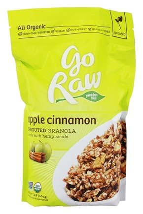 Go Raw - Sprouted Granola Made with Hemp Seeds Apple Cinnamon - 1 lb.