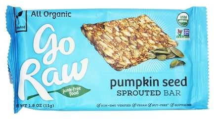 Go Raw - Organic Sprouted Bar Pumpkin Seed - 1.8 oz.