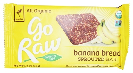 Go Raw - Organic Sprouted Bar Banana Bread - 1.2 oz.