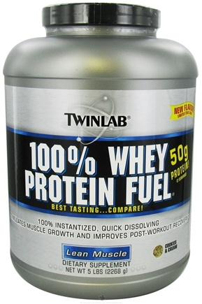 DROPPED: Twinlab - 100% Whey Protein Fuel Cookies & Cream - 5 lbs.