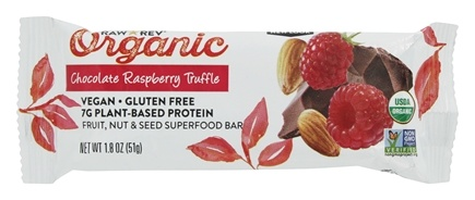 Raw Revolution - Organic Live Food Bar with Sprouted Flax Seeds Chocolate Raspberry Truffle - 1.8 oz.