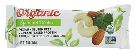 Raw Revolution - Organic Live Food Bar with Sprouted Flax Seeds Spirulina Dream - 1.8 oz.