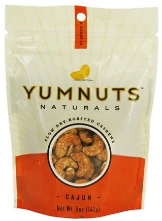 DROPPED: Yumnuts Naturals - Slow Dry-Roasted Cashews Spicy Cajun - 5 oz. CLEARANCE PRICED