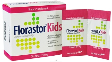DROPPED: Biocodex - Florastor Kids 250 mg. - 20 Packet(s)