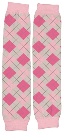 "DROPPED: Green Sprouts - Organic Cotton Print Legwarmers 13"" Argyle Rose Pink"