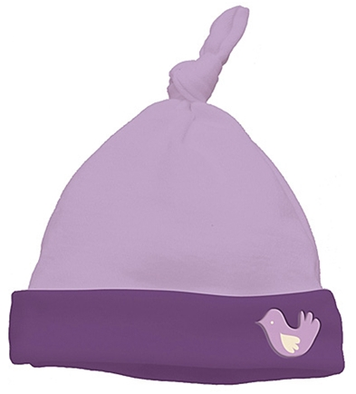 DROPPED: Green Sprouts - Origins Organic Knot Cap Newborn 3 Months Chickadee Lavender