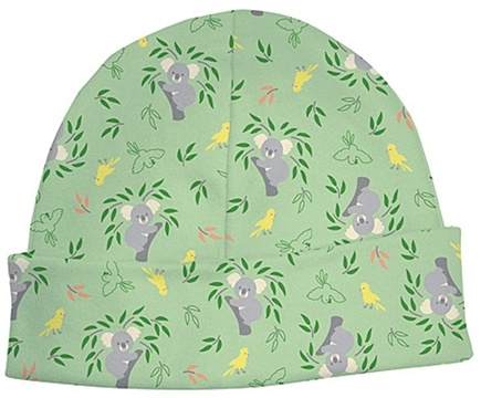 DROPPED: Green Sprouts - Origins Organic Baby Cap Newborn 3 Months Koala Sage Green