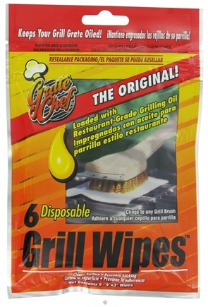DROPPED: Harold Import - Grate Chef Disposable Grill Wipes - 6 Pack CLEARANCE PRICED