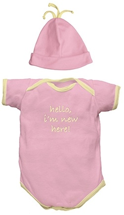 "DROPPED: Green Sprouts - ""I'm New"" Organic Gift Set Small 6 Months Rose Pink - 2 Piece(s)"
