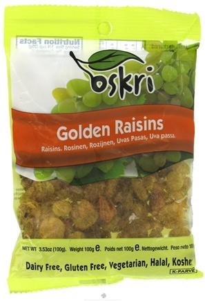 Zoom View - Dried Golden Raisins Gluten-Free